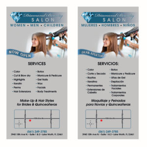 Front & Back Rack Card